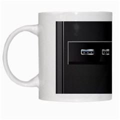 Standard Computer Case Front White Mugs by BangZart