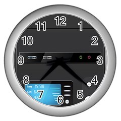 Standard Computer Case Front Wall Clocks (silver)  by BangZart