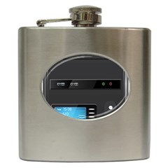 Standard Computer Case Front Hip Flask (6 Oz)