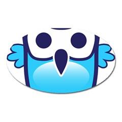Owl Logo Clip Art Oval Magnet by BangZart