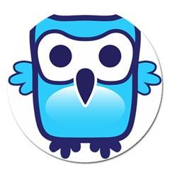 Owl Logo Clip Art Magnet 5  (round)