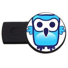 Owl Logo Clip Art Usb Flash Drive Round (4 Gb) by BangZart