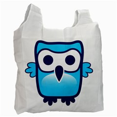 Owl Logo Clip Art Recycle Bag (two Side)  by BangZart
