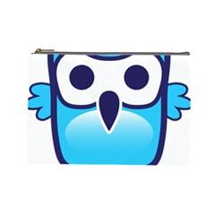 Owl Logo Clip Art Cosmetic Bag (large)