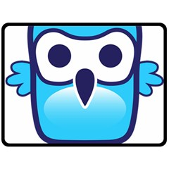 Owl Logo Clip Art Fleece Blanket (large)  by BangZart