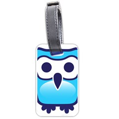 Owl Logo Clip Art Luggage Tags (one Side)