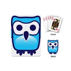Owl Logo Clip Art Playing Cards (mini)