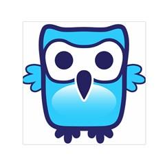 Owl Logo Clip Art Small Satin Scarf (square) by BangZart