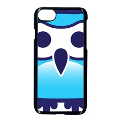 Owl Logo Clip Art Apple Iphone 7 Seamless Case (black) by BangZart