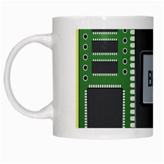 Computer Bios Board White Mugs by BangZart