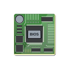 Computer Bios Board Square Magnet by BangZart