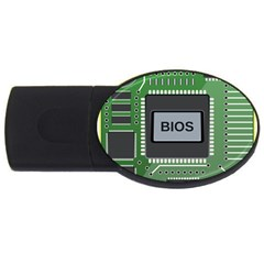 Computer Bios Board Usb Flash Drive Oval (4 Gb)