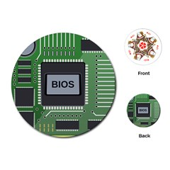Computer Bios Board Playing Cards (round)  by BangZart