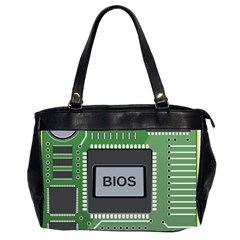 Computer Bios Board Office Handbags (2 Sides)  by BangZart