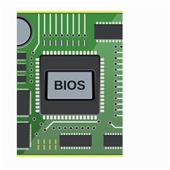 Computer Bios Board Small Garden Flag (two Sides) by BangZart