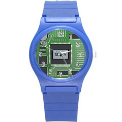 Computer Bios Board Round Plastic Sport Watch (s) by BangZart