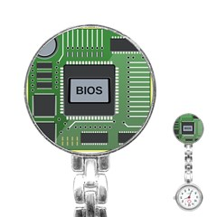Computer Bios Board Stainless Steel Nurses Watch by BangZart