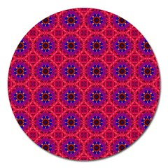Retro Abstract Boho Unique Magnet 5  (round)
