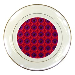 Retro Abstract Boho Unique Porcelain Plates by BangZart
