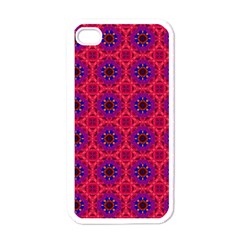 Retro Abstract Boho Unique Apple Iphone 4 Case (white)