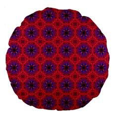Retro Abstract Boho Unique Large 18  Premium Flano Round Cushions by BangZart