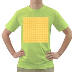Yellow Pattern Background Texture Green T Shirt