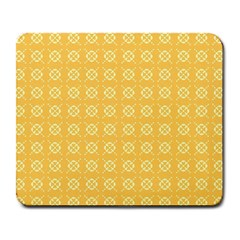 Yellow Pattern Background Texture Large Mousepads by BangZart