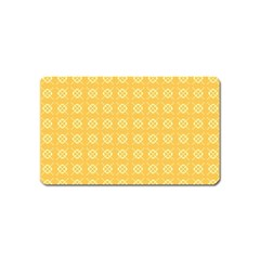 Yellow Pattern Background Texture Magnet (name Card)