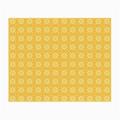 Yellow Pattern Background Texture Small Glasses Cloth