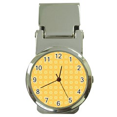 Yellow Pattern Background Texture Money Clip Watches by BangZart