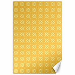 Yellow Pattern Background Texture Canvas 24  X 36  by BangZart