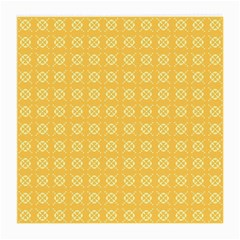 Yellow Pattern Background Texture Medium Glasses Cloth by BangZart