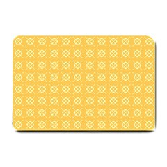 Yellow Pattern Background Texture Small Doormat