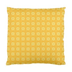 Yellow Pattern Background Texture Standard Cushion Case (two Sides)