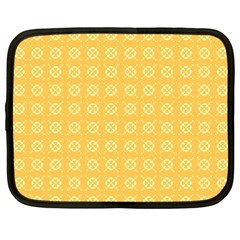 Yellow Pattern Background Texture Netbook Case (xxl)