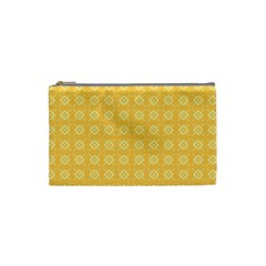 Yellow Pattern Background Texture Cosmetic Bag (small)  by BangZart