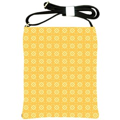 Yellow Pattern Background Texture Shoulder Sling Bags