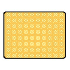Yellow Pattern Background Texture Fleece Blanket (small) by BangZart