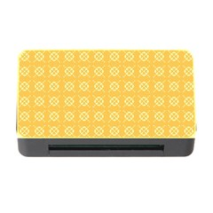 Yellow Pattern Background Texture Memory Card Reader With Cf by BangZart