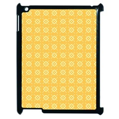 Yellow Pattern Background Texture Apple Ipad 2 Case (black) by BangZart