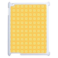 Yellow Pattern Background Texture Apple Ipad 2 Case (white) by BangZart