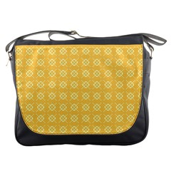 Yellow Pattern Background Texture Messenger Bags