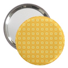 Yellow Pattern Background Texture 3  Handbag Mirrors