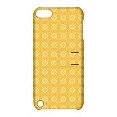 Yellow Pattern Background Texture Apple Ipod Touch 5 Hardshell Case With Stand