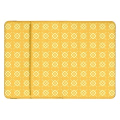 Yellow Pattern Background Texture Samsung Galaxy Tab 8 9  P7300 Flip Case by BangZart
