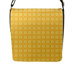 Yellow Pattern Background Texture Flap Messenger Bag (l)  by BangZart