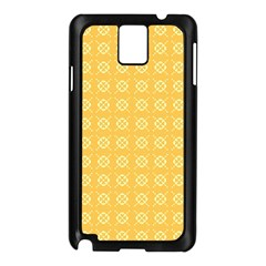 Yellow Pattern Background Texture Samsung Galaxy Note 3 N9005 Case (black) by BangZart