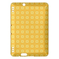 Yellow Pattern Background Texture Kindle Fire Hdx Hardshell Case by BangZart