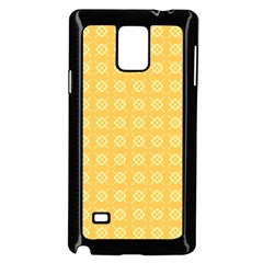 Yellow Pattern Background Texture Samsung Galaxy Note 4 Case (black) by BangZart