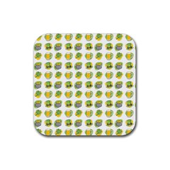 St Patrick S Day Background Symbols Rubber Square Coaster (4 Pack)
